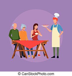 Family barbecue picnic