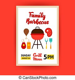 Family Barbecue Poster