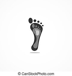 Family barefoot logotype with adult and child foots.