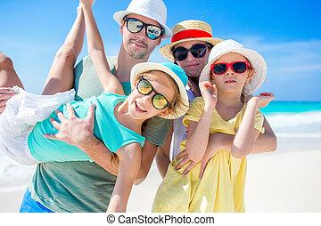 Family beach vacation