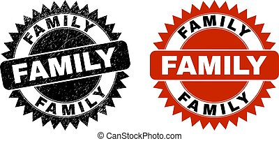 FAMILY Black Rosette Watermark with Corroded Surface