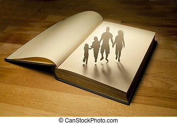 Family Book Story. Conceptual photography.