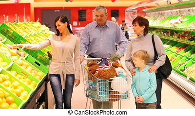 Family buying products