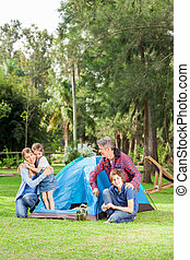 Family Camping In Park