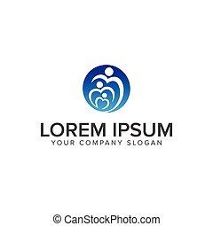 family care logo design concept template