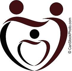 Family Care Logo Design Template Vector