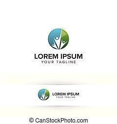 family care people logo design concept template
