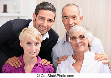 family celebrating together