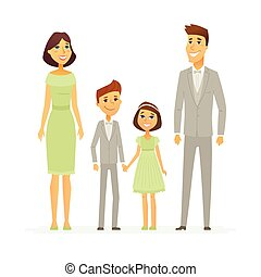 Family celebration - cartoon people characters isolated illustration