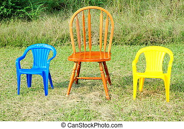 Family chairs.