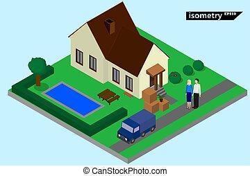 family chooses a house