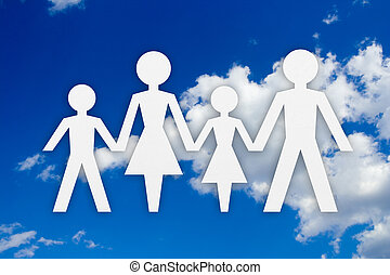 Family concept and sky