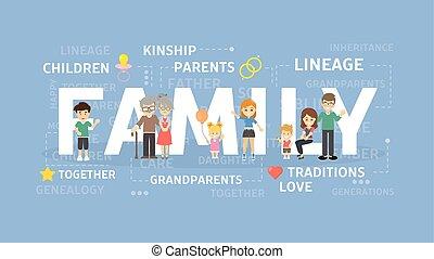 Family concept illustration.