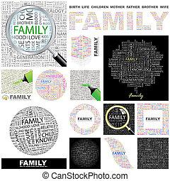 family., concept, illustration.