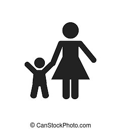 family concept. Pictogram icon. flat and isolated design