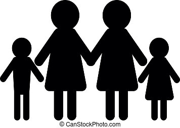 family concept two women
