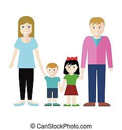 Family Concept Vector Illustration in Flat Design.