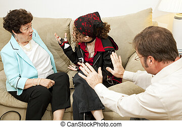Family Counseling - Blame Mom