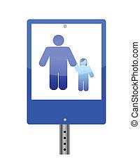 family crossing sign illustration