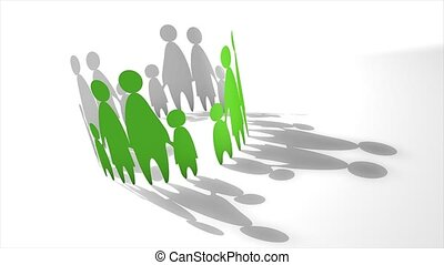 Family cut-out - Parenting conceptual animation.