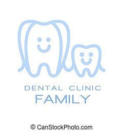 Family dental clinic logo symbol, vector Illustration for...