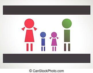 Family design concept background