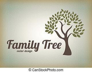 Family design over beige background, vector illustration