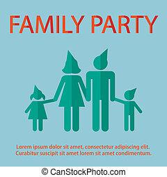 family design over background vector illustration flat