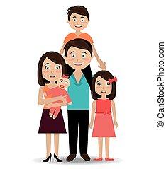 Family design, vector illustration. - Family design over...