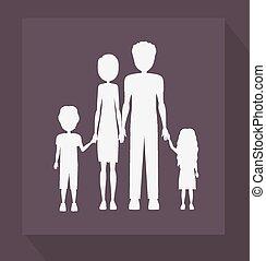family, desing, vector illustration.