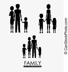 family, desing, vector illustration.