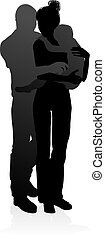 Family Detailed Silhouette - High quality and detailed...