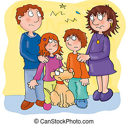 family, divorced, sad, quarrel
