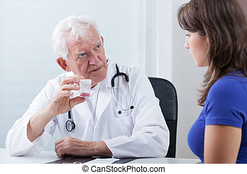 Family doctor and medicine