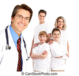 Family doctor - Smiling family medical doctor and young ...
