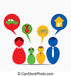 family dream concept - every family member has own dream...