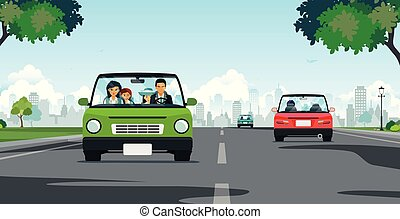 Family driving