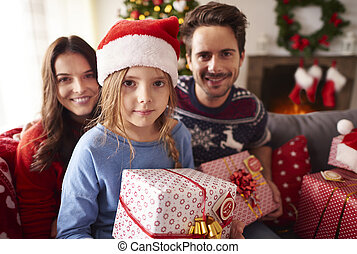Family during the Christmas time