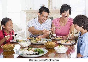 Family Enjoying meal, mealtime Together - testing