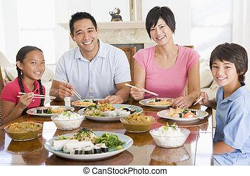 Family Enjoying meal,mealtime Together