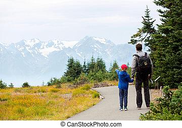 family enjoying olympic national park