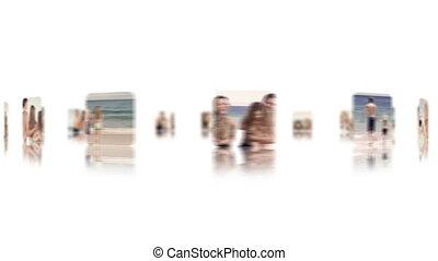 Family enjoying vacation at beach
