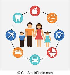family graphic design , vector illustration