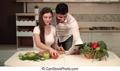 Family Evening in Kitchen