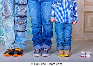 Family feet on the floor