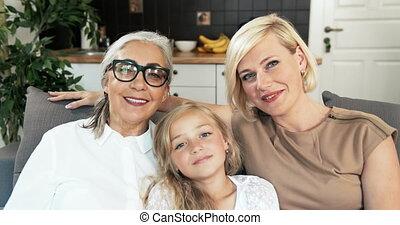 Family Female Members Having Video Chat
