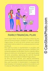 Family Financial Plan Shopping Vector Illustration