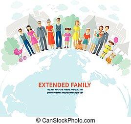 Family Flat Background