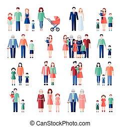 Family Flat Images Set