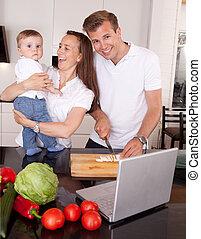 Family Fun in Kitchen